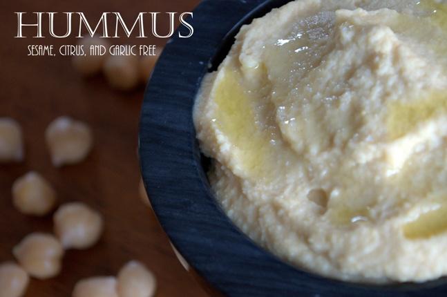 Hummus (sesame, citrus, and garlic free)