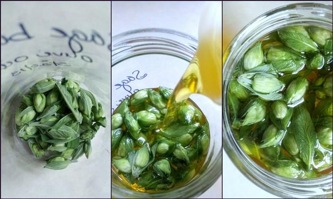Sage Flower Infused Olive Oil