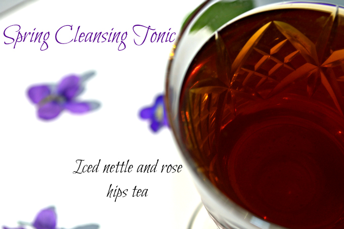 Spring Cleansing Tonic: Iced Nettle and Rose Hips Tea