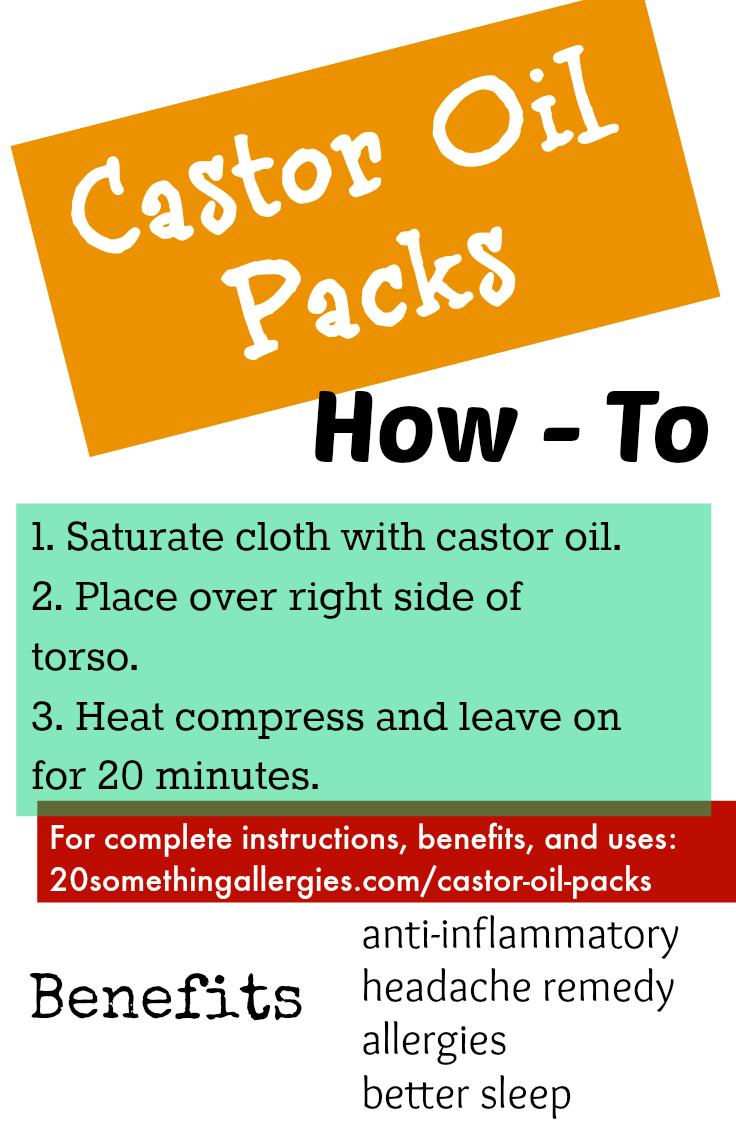 Castor Oil Packs for Detoxification, Allergies, and Liver Health